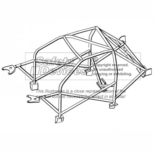 Safety Devices Peugeot 205 Multipoint Weld In Roll Cage